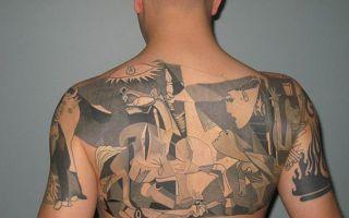 他们有多爱艺术 17个毕加索作品做创意的纹身