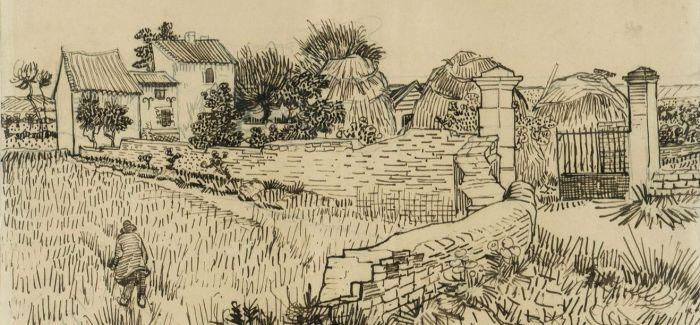 梵高大师素描风景