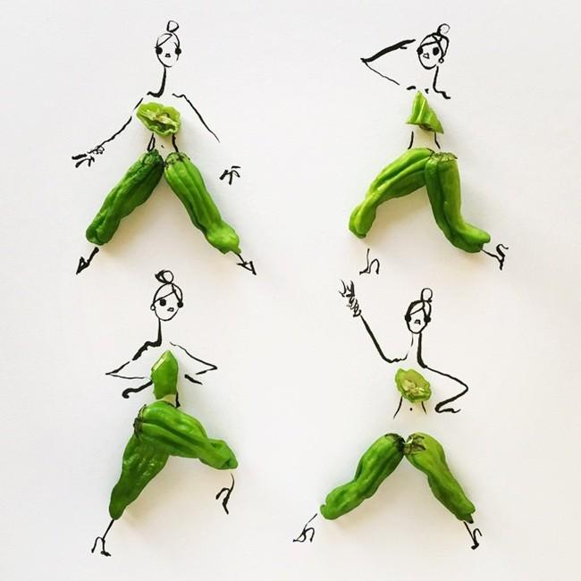 在时尚时装中占据一席之地的蔬果食品