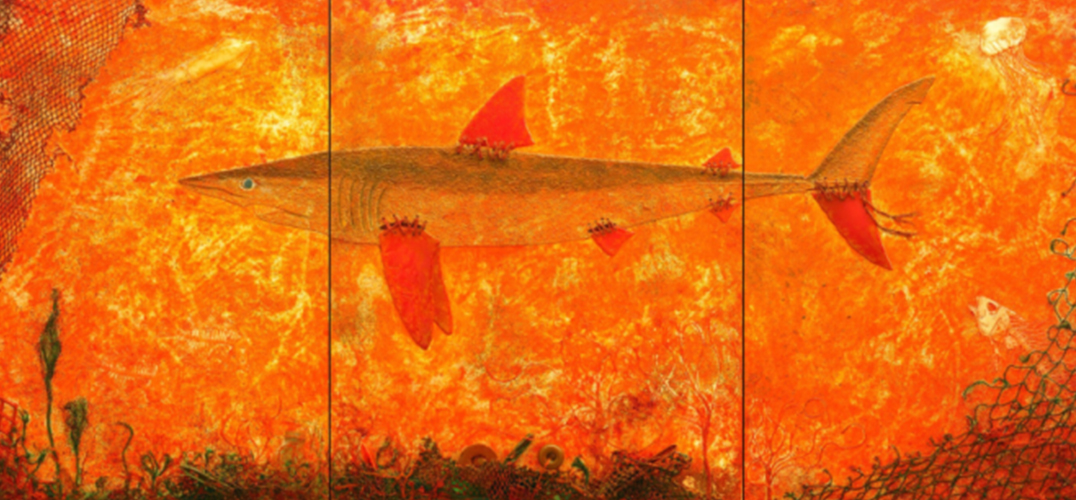 """保护鲨鱼""艺术巡回展参展艺术家:Wolfgang Trettnak   Margarita Cimadevila"