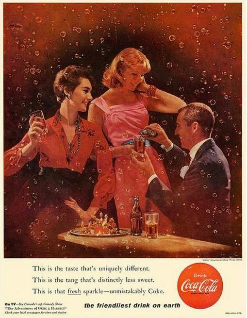 可口可乐60年代复古海报设计