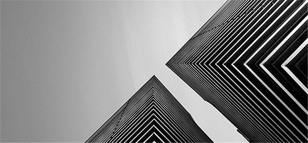 黑白线条极简边框