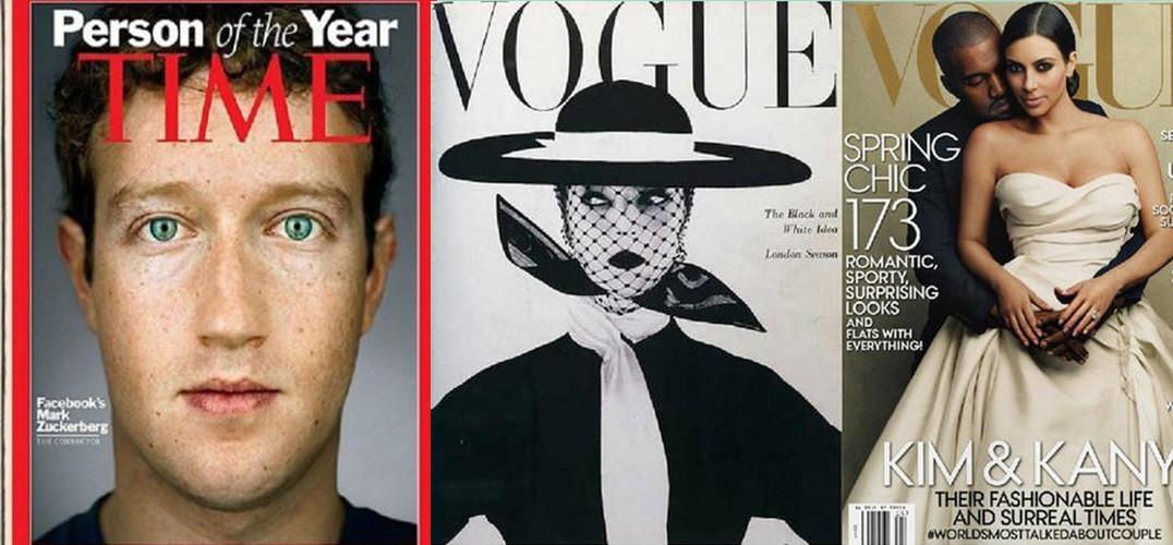 买杂志,第一眼看什么?自然是封面。一本杂志封面的设计出彩与否甚至会影响到整个杂志的销售情况,其重要程度不言而喻。 看到现在时尚杂志封面几乎是千篇一律的高冷大气明星肖像,让我们不由得好奇:多年以前,这些杂志的封面是什么样子呢? 来自美国的设计师 Karen X. Cheng 和 Jerry Gabra 带着同样的好奇心开始了这项探索。他们挑选了几家国际知名的杂志,一一寻找它们在100年以前或者刚创刊时的杂志封面样式,并按照时间的先后顺序拼成了一幅幅对比图,以从中研究封面设计,或者确切的说是杂志人像摄影趋势在