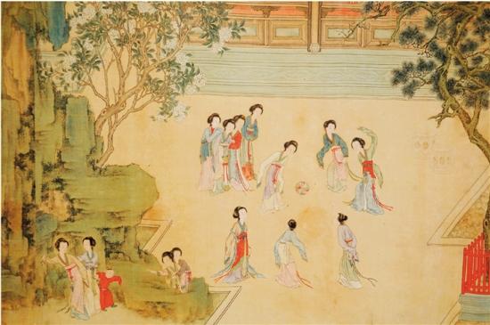 手绘古代人劳作壁画