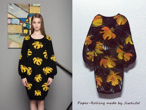 季未燃jiweijw原创时尚服装手工纸艺设计作品