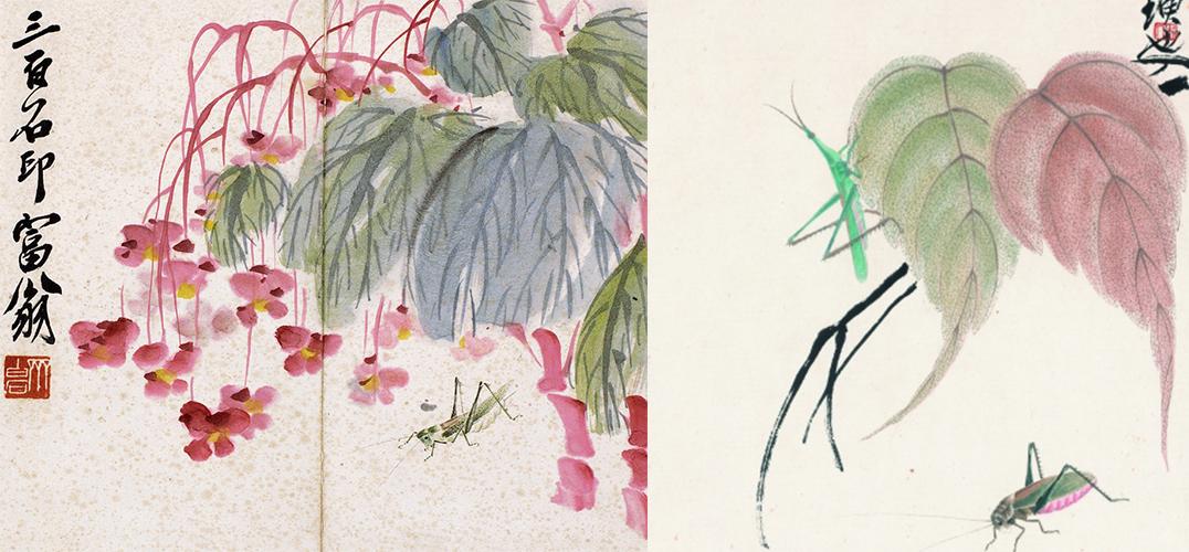 工笔画螳螂的画法步骤图