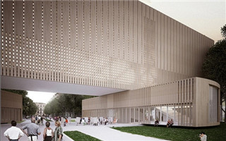 北京 PENDA 建筑所设计了一座可旋转的包豪斯美术馆