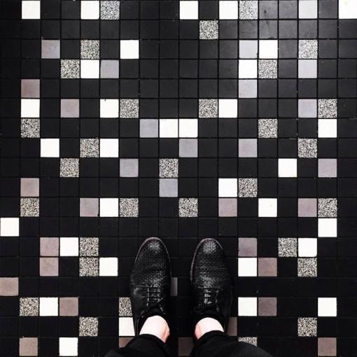 国外街头好看的瓷砖图案设计图片