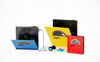 走在时代尖端发行的黑胶唱片随身听
