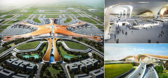 北京新机场方案公布俯瞰像海星 盘点最近新机场设计作品图片