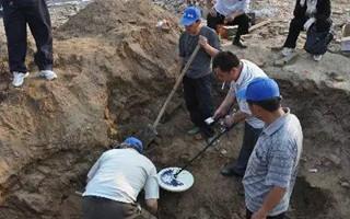 内蒙出土清代墓葬群 惊现140万枚古钱