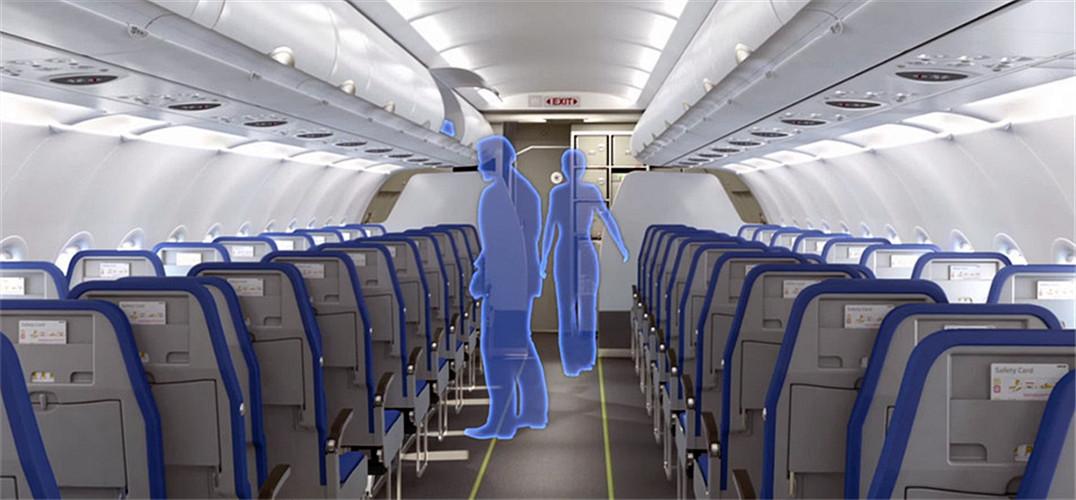 """飞机上靠窗的座位可以观景,靠过道的方便进出,中间的座位落不到一个好,并被认定为""""最差""""的选择。但来自 Molon Labe Designs 的 Hank Scott 设计了一种侧滑式座椅,试图把中间的座椅利用起来,给客舱过道留出更多空间。 Hank Scott 首先将中央的座椅设计得更低,并与左右两边的座位错开。这样一来,中间的乘客可以获得几英寸的空间差,不管是打字还是吃饭,都不会与两边的人""""打架""""。而过道边的座椅可以往内移动侧滑一部分,留出更宽的过道,特别"""