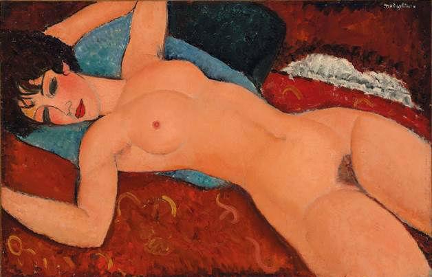 佳士得香港展览的《侧卧的裸女》