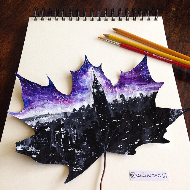 adaymag-artist-uses-fallen-autumn-leaves-as-canvases-for-gorgeous-paintings-09