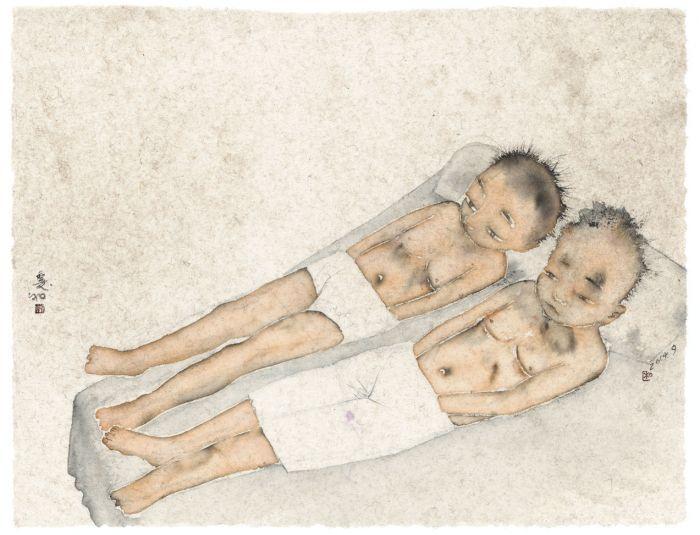 成人,纸本设色,51cm×57cm,2014