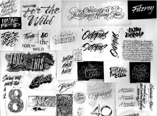 O Brien手绘字体画报设计作品