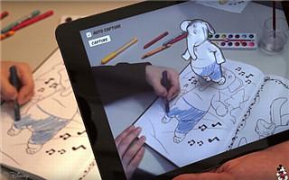 迪斯尼研发增强现实涂鸦绘本