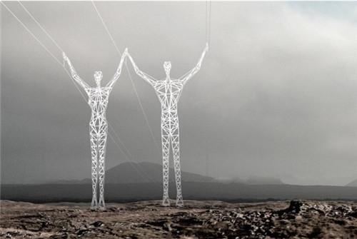 设计的高压线塔