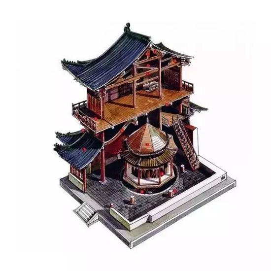 李乾朗先生2005年起著手绘图,以解剖图法展现中国建筑史经典建筑