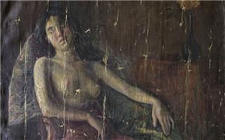 """李叔同油画""""半裸女像""""再现 曾消失91年"""