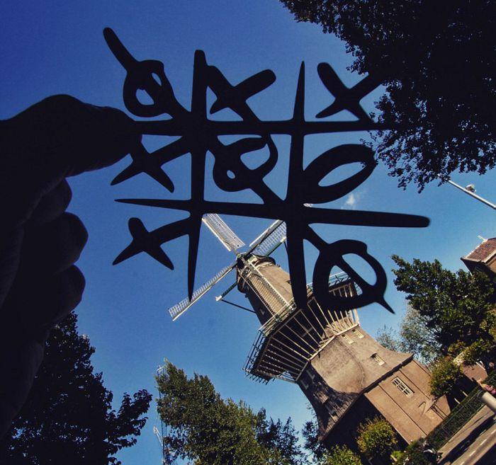 风车剪纸步骤图片