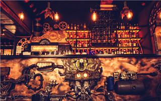 文青风让开!硬派蒸气朋克风格咖啡厅 Enigma