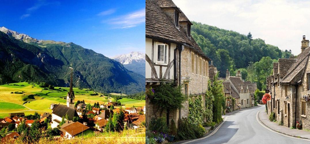 """不论是窗边开出的小花,还是青石板铺成的小巷,欧洲小镇的纯美风情总是体现在细微处,等着你不经意间地发现。如果走累了就找一间街角咖啡馆小憩一下,时间在这里总是走地轻柔缓慢。我们为你搜罗欧洲十大绝美小镇,品味极富地域特色的欧式美景。    TOP1 Cinque Terre 意大利五渔村 地中海北岸的一道彩虹    五渔村是五个依山傍海的小村庄,俯瞰地中海北岸。彩色的古民宅依悬崖而建,仿佛是蔚蓝色地中海的一道彩虹。素有""""生命女神"""" 之称的礼拜堂每周都会有热闹的礼拜活动,你还可以在当地的集"""