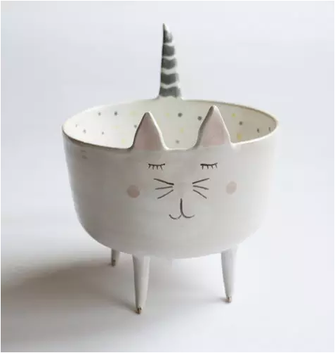 marta turowska创意动物造型陶瓷碗 萌你一脸