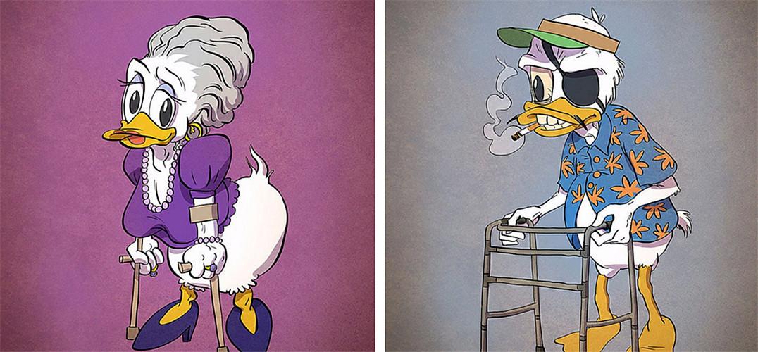 当卡通人物变老