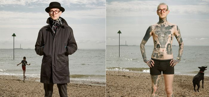 脱下衣服变成另外一个自己:艾伦·鲍德尔的双重纹身肖像摄影