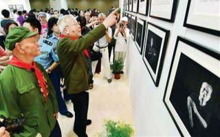 """""""父辈的荣耀:中国抗战老兵摄影展""""亮相羊城"""
