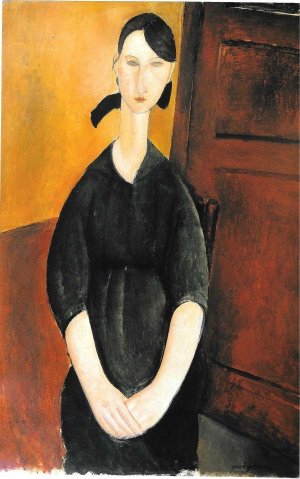 阿美迪欧·莫迪利亚尼(Amedeo Modigliani)的《宝丽特·茹丹肖像》(Paulette Jourdain ,1919)在上周末的苏富比陶布曼专场中以4,280万美元领跑,成为成交价格最高的拍品。 图片:Courtesy of Sotheby's