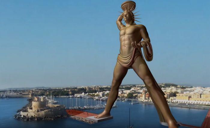 这座位于罗德城(同名岛)的希腊太阳神赫利俄斯的神像