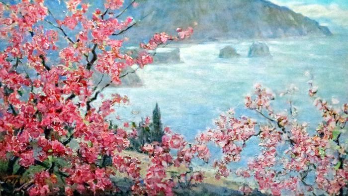 春天景色意境图片手绘