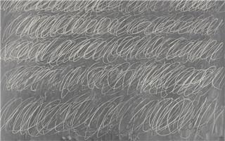 艺术家黑板上画6行圈圈拍出7千万天价