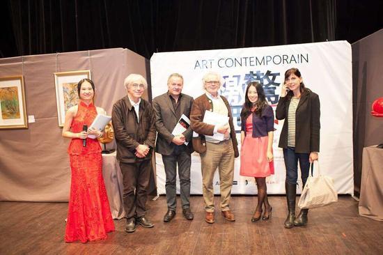 法国美术家协会主席雷米·阿隆等艺术家