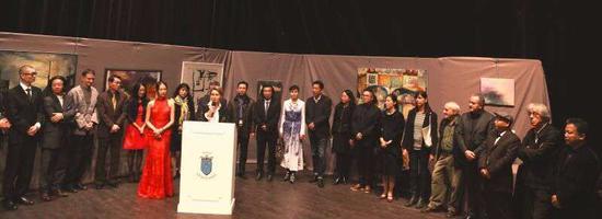 中国文化中心魏军副主任.贝科市长、雷米·阿隆、策展人许改等嘉宾