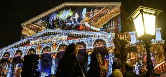 3D全息投影《天鹅湖》闪耀莫斯科光圈艺术节