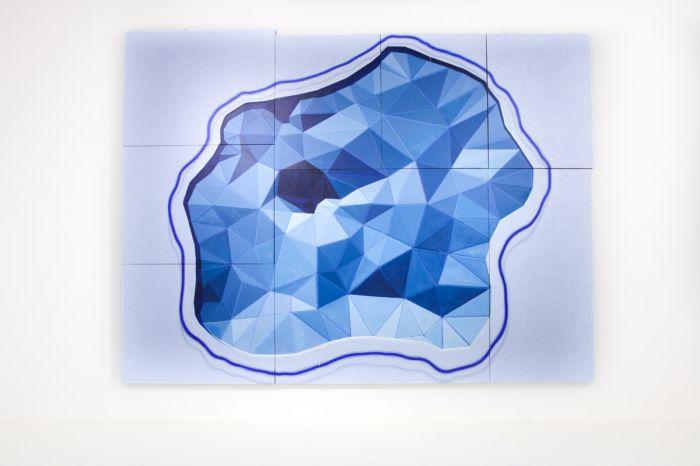 《世界(天下)》布上丙烯,336 x 445 cm