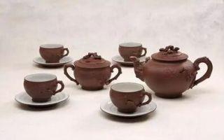 杨子重金入得顾景舟松鼠葡萄十头套组茶具