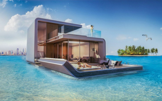 """迪拜打造三层海中悬浮别墅""""漂浮海马"""""""