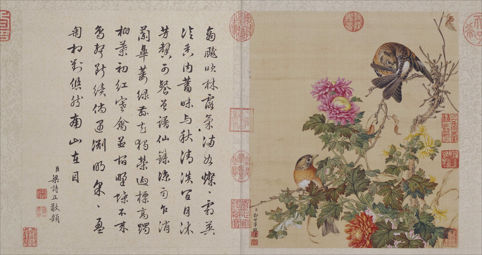 郎世宁《花鸟图册》北京故宫博物院藏10