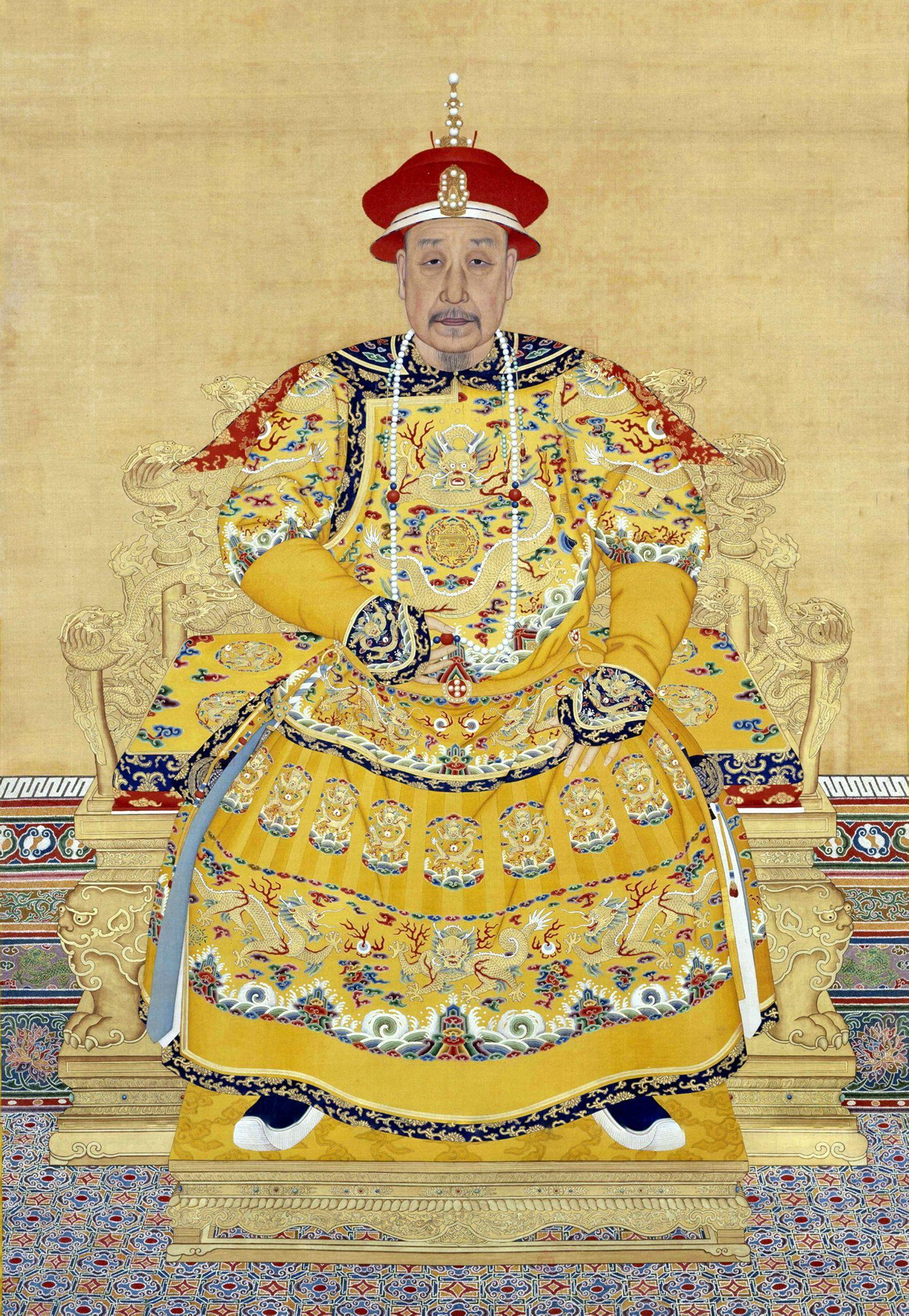 郎世宁《乾隆皇帝朝服像》