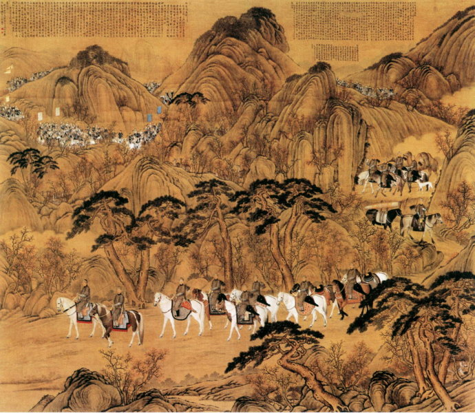 郎世宁《弘历哨鹿图》北京故宫博物院藏