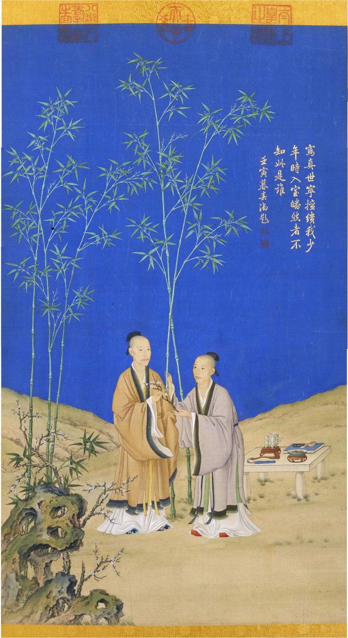 郎世宁《平安春信图》北京故宫博物院藏