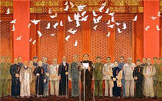 巨幅中国画作品《新中国诞生》入藏中国国家博物馆