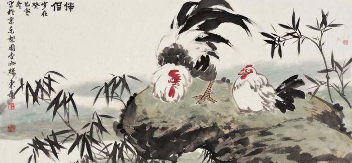 吴东奋杭州画展今日落幕 首创工笔画呈现水墨花鸟技法