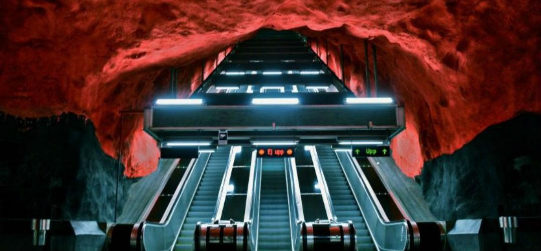 斯德哥尔摩地铁站:不仅是交通方式 更是世界最长艺术长廊