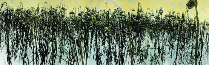 青葵Ⅰ布面油画Ⅰ280cm×900cmⅠ2008