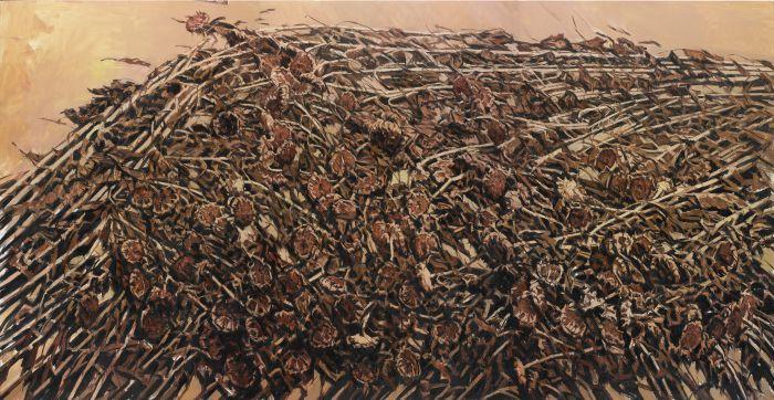 东方葵Ⅰ狂飚Ⅰ布面油画Ⅰ280cm×540cmⅠ2014